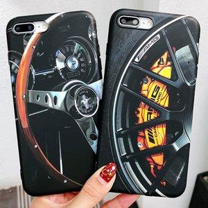 IMD caja del teléfono celular para el iphone X 8 PLUS Mercedes Benz cubierta protectora del teléfono móvil cubierta suave suave para el iPhone 7 6s 6