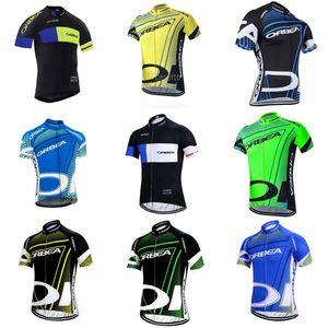 Orbea Team Summer Велоспорт Короткие рукава Джерси Мужская MTB Велосипедная Одежда Дорожные Гонки Вершины Велосипеда Униформа S21021840