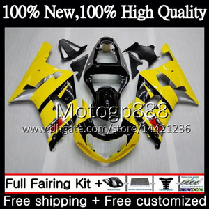 Body For SUZUKI GSX-R600 GSXR 750 K1 GSXR750 01 02 03 23PG22 GSXR 600 01 03 GSX-R750 Yellow black GSXR600 2001 2002 2003 Fairing Bodywork