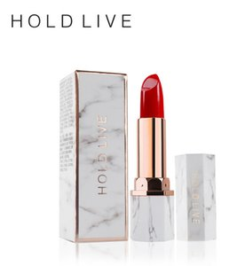 Lápiz labial Maquillaje Dark Red Orange Holdlive Marca White jade Marbling Pintalabios impermeable y humectante ENVÍO GRATIS