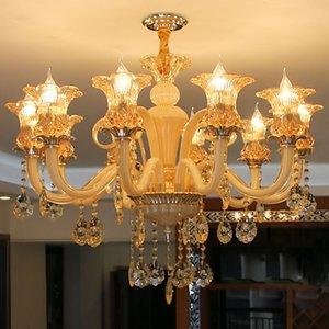 Европейская классическая современная хрустальная люстра Luxury Home Hotel Decor Дизайн хрустальная люстра ручной работы из Китая