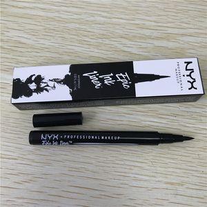NYX ملحمة الحبر بطانة كحل بطانة قلم كحل أسود مقاوم للماء القلم لا يزهر الدقة السائل العين