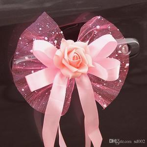 Украшение автомобиля цветок практические авто зеркало и ручка Цветы для свадьбы декор букет легко носить с собой 3 8xt куб. см