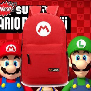 슈퍼 마리오 형제 개념 나일론 배낭 마리오 레드 배낭 루이지 녹색 가방 새로운 디자인 복고풍 게임 팬 NB063
