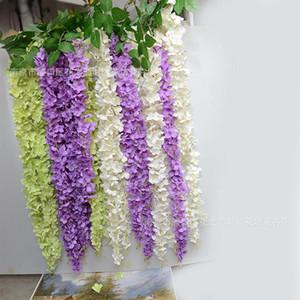 10pcs / lot 3 Forchette ogni pezzo Wisteria Vine Ottimizzata Ortensia String Fiore 10 colori disponibili per la cerimonia nuziale e la decorazione domestica libera il trasporto