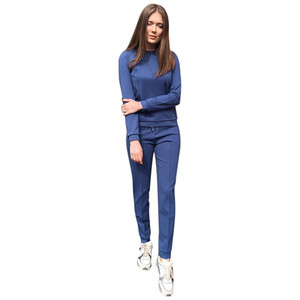 Россия Стиль Женщины Трек костюм бордовый Абрикос-цветной 2-х частей фуфайки Длинные Pant досуг костюмы Новая мода Женщины Бесплатная доставка