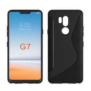 Lg g7 1,3mm kohlefaser case pinsel ns linie tpu soft phone back cover für lg aristo 2 x210 tribute dynasty k8 2018 k10 2018 sony xperia xz2