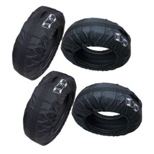 """4 Pcs Car Spare Tire Storage Protection Bag 13""""-19"""" Wheel Tyre Carry Tote Cover"""