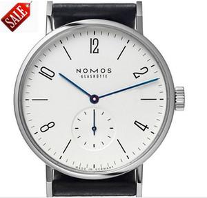 Best-Seller Brand NOMOS Fake Sub Dials Moda para hombres y mujeres Relojes simples Vogue Metal Mesh Correa Movimiento Reloj de cuarzo