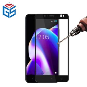 For BQ Aquaris V Plus Silk Print Full Cover Clear 9H Guard Tempered Glass Screen Protector Film