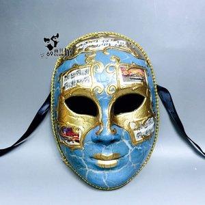 Hanzi_masks Halloween Horror Resina Máscaras Fiesta privada Cosplay Masquerade Traje Atrezzo Máscara pintada a mano Italiano turista souvenir