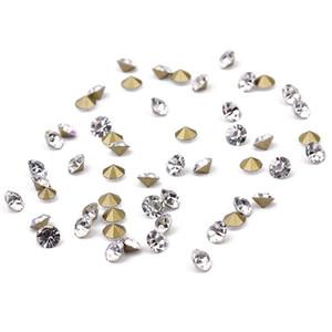 80gram / الكثير (about1440pcs) أبيض اللون حجر الراين جوهرة قمي شكل دائرة كريستال فضفاض الماس الخرز للحصول على حفل زفاف الملابس ديكور