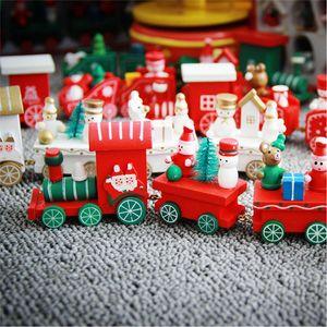 Cadeau de Noël pour les enfants Décoration Pour La Maison Petit Train Populaire Train En Bois Décor Noël Cadeau Saint Valentin pour les enfants