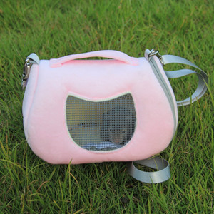 2 Colors Small Animal Carrier Breathable Pet Carrying Bag Hamster Rat Hedgehog Puppy Pocket Sleep Hanging Outgoing Travel Bag