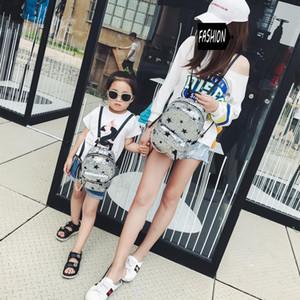 2018 mère et fille correspondant sacs mignonne fermeture à glissière pleine paillettes sac à dos coréenne mode voyage épaulettes sac taille libre pour filles 4 couleurs