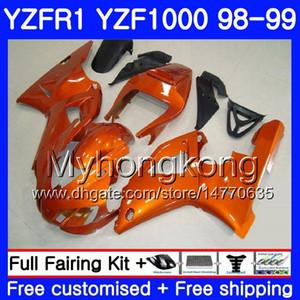 Carrozzeria per YAMAHA YZF R 1 YZF 1000 YZF1000 -YZFR1 98 99 Arancio lucido Telaio 235HM.9 YZF-1000 YZF-R1 98 99 Corpo YZF R1 1998 1999 Carenatura
