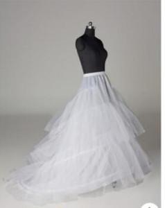 라인 Crinoline 신부 3 후프 Petticoats 웨딩 드레스 치마 아래 결혼식 액세서리 슬립 기차로