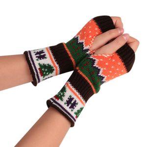 عيد الميلاد نمط قفازات المرأة أزياء للجنسين الدافئة أصابع قفازات السيدات الشتاء محبوك قفاز بنات غانتس فام # yl D18110806