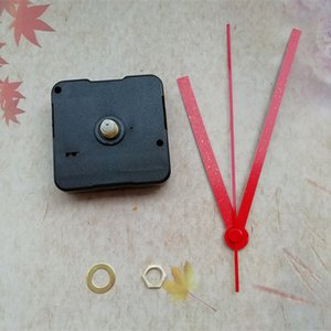 En gros 50 PCS 12mm axe de balayage silencieux mécanisme d'horloge à quartz avec pointeur en métal rouge bricolage accessoires
