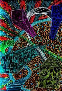 150 см*90 см психоделическое искусство флаг баннер 3 * 5 футов полиэстер пользовательские висит дома декоративные 11