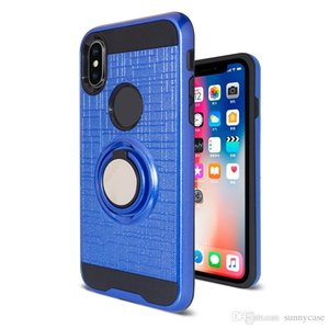 360 градусов вращающееся кольцо телефон Case для huawei P Smart P20Pro Y9 2018 P20 PLUS case Y7 prime 2018 y6 2018 y3 Y5 2017 гибридный броня задняя крышка