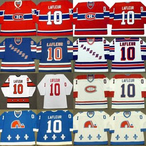 Retro 10 Guy Lafleur Jersey New York Rangers 1988 Montreal Canadiens 1973 Quebec Nordiques 1990 Hockey Jerseys Stitched Logo
