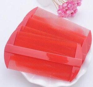 Capelli di plastica Due laterale Combs Rosso Giallo pidocchi pettine dei capelli delle donne Strumenti Caring 11 * 5,5 centimetri