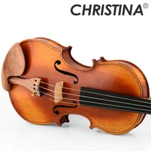 Italia Christina EU5000C Master Amati Violin 4/4 Made in Europe Acero fiammato violino professionale fatto a mano con custodia per violino