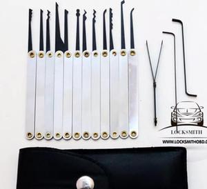 أدوات الأقفال قفل اللقطات GOSO 12pcs هوك اللقطات التيتانيوم قفل اختيار مجموعات أدوات مفتاح المكسور شحن مجاني