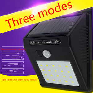 20 led solar induction wall lamp household outdoor waterproof triangular solar human body induction lamp outdoor lighting