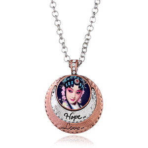 lady necklaces pendants for dye sublimation hope love button necklace pendant hot transfer blank material custom gift 00288
