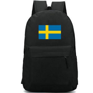 Швеция флаг рюкзак прохладный страна День пакет синий желтый баннер мешок школы случайные packsack хороший рюкзак Спорт школьный открытый рюкзак