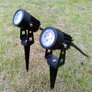 3W 6W Rasen Garten Licht LED Außenbeleuchtung 12V 110V 220V Wasserdichte Strahler Warmweiß Kaltweiß Rot Gelb Blau Grün Lampenfarbe