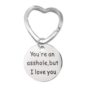 Você é um idiota, mas eu te amo Chaveiro Presentes para Presente Namorado Engraçado ou Marido Aço Inoxidável Jóias