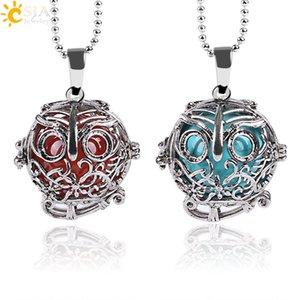 زيوت الفضة الفضية الأساسية العطر المنتشر قلادة قلادة الرجال قلادة مجوهرات مجوهرات نساء حجارة الطبيعة Bead E684