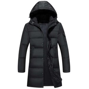 New winter jacket men 70% white duck down Long jacket hooded parka mens down jacket thickening outerwear jackets05