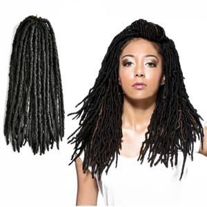 24-80 stands / pack Nu Faux Locs Curly Crochet Twist Trenzas sintéticas Tiny Nu Locs Trenzado Hair Hairstyle Extensiones de cabello