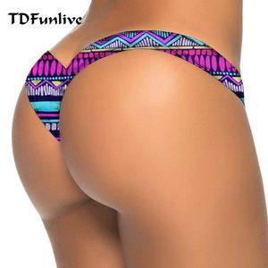 TDFunlive V shape sexy brazilian tanga bikini swimwear women thong bikini bottom brazilian biquini bralette trajes de bano women