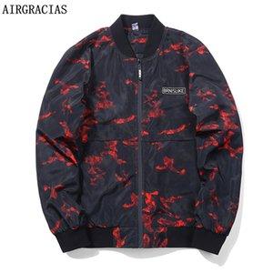 AIRGRACIAS Otoño Ropa de camuflaje para hombre Ropa interior Chaquetas Abrigo ligero Bolsillos Abrigos ocasionales 2 colores EE. UU./UE Tamaño UE M-3XL