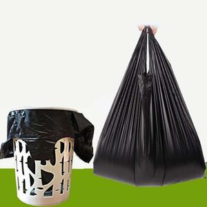 52 * 32 CM Siyah Çöp Torbaları - 50 Adet / takım Mutfak İpli Çöp Torbaları - Ev Temizlik Atık Torbası Plastik Tek Kullanımlık Çantalar