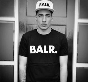 2018 frete grátis T-shirts dos homens marca Balr rua maré de manga curta em torno do pescoço solto de manga curta de algodão dos homens personalidade T-shirt dos homens