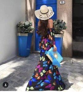 TEAEGG 2018 impressions de style de vacances fleur Jumpsuit