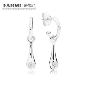 FAHMI 100% 925 Sterling Silver Charme 297357CZ-1 Modern LovePods Brinco Studs Original das Mulheres Moda Jóias