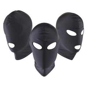 Adult Bondage Fetish Mask Hood Tighten Breathable Open Mouth Eye Mask BDSM Cosplay Sex Toys Erotic Headgear Mask Man Unisex