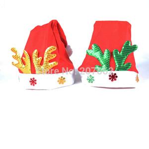 5 pçs / lote Enfeites de natal criança Chapéus de Natal Ordinários Chapéus de Santa Cap Para O Partido Adereços