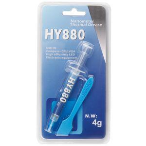 HY880 4g Tubo De Agulha Embalagem de Super Carbono Nano Graxa Térmica Composto Dissipador de Material de Interface para CPU GPU LEVOU Raspador Livre