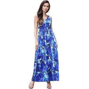 2018New arrived Summer's Women's Fashion Print Dress V-Neck Flowers Print sundress Casual Maxi Long Sexy dress Bohemia Dress S M L XL 2XL