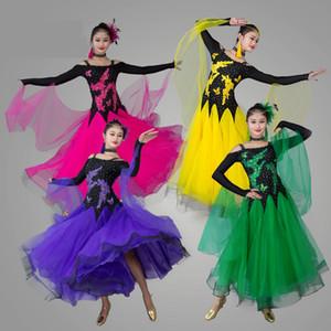 Erwachsene / frauen ballroom dance dress moderne walzer standard wettbewerb dance dress sexy trägerlosen gestickten strass dress