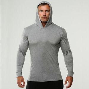 Mens SPOR Spor Hoodies Katı Renk Kapşonlu Atletik Casual Spor Tişörtü Tops Uzun Kollu Ücretsiz kargo