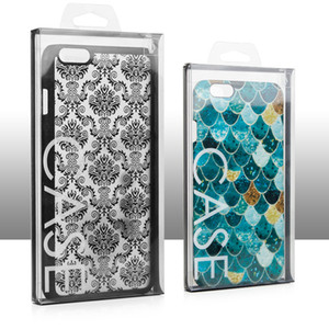 Nero trasparente PVC Imballaggio Al Dettaglio Box Package per iPhone 6 7 8 plus X XS MAX XR Samsung Case COVER Per Cell Phone case Packing box